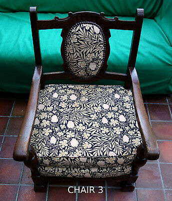 Low Bedroom Fireside Child's Throne Chair. Nursing Easy Chair. Antique / Vintage
