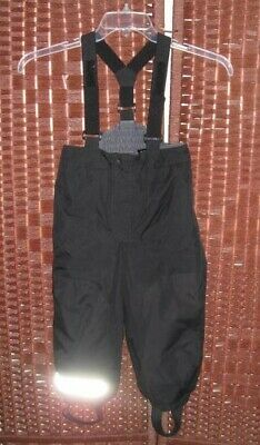 H&M black ski bibs snow pants 3 4 years kids 104 cm insulated unisex boys girls