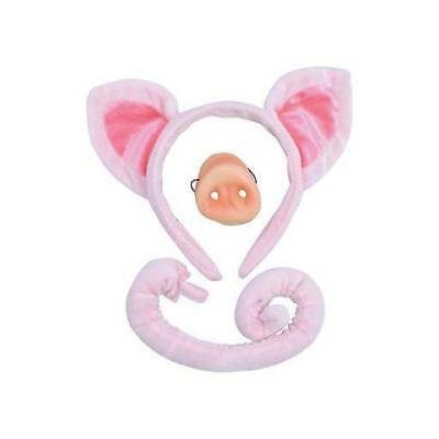 Pig Ears,Nose and Tail Set Piglet Fancy Dress