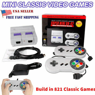 HDMI SUPER Classic Edition Console Mini Retro Built-in 821 Games 4K-Fast New USA