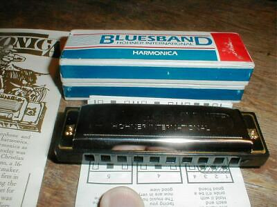 NEW  Hohner International BLUESBAND HARMONICA #1501 in Gift Box w/Instructions