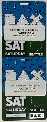 1 PAX West Ticket SEATTLE 2019 - Saturday 8/31/19 FREE SHIP