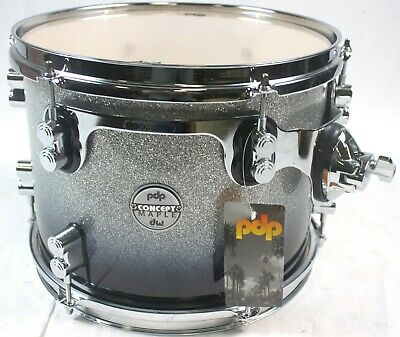 "PDP by DW Concept Maple 12"" Rack Tom Drum Silver to Black Fade new #R1893"