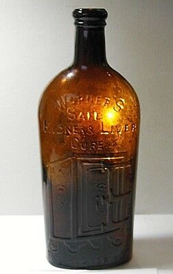 Antique Bright Orange Amber Warner's Safe Kidney And Liver Cure