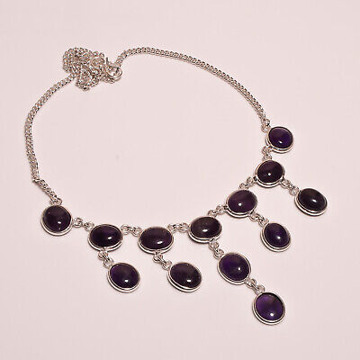Amethyst Lace .925 Silver Plated Handmade Necklace Jewelry JA974