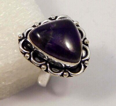 Amethyst Lace .925 Silver Plated Handmade Ring Size-8.75 Jewelry JC4397