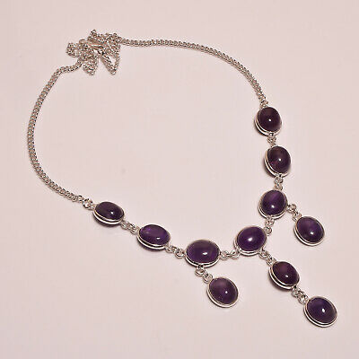 Amethyst Lace .925 Silver Plated Handmade Necklace Jewelry JB120