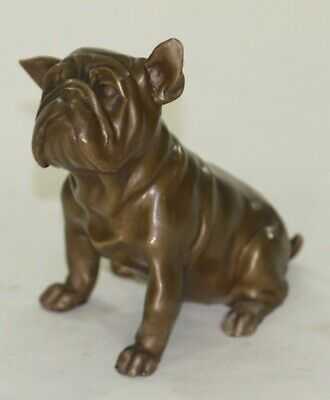 Vintage Art Deco French Bulldog Bronze Bookend Book End Museum Quality Artwork