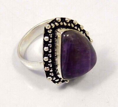 Amethyst Lace .925 Silver Plated Handmade Ring Size-8.75 Jewelry JC4409