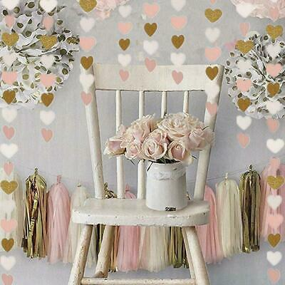 Heart Shape Hanging Paper String DIY Home Decor Party Supplies Garland Banner