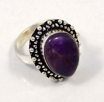 Amethyst Lace .925 Silver Plated Handmade Ring Size-8.75 Jewelry JC4435