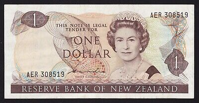 New Zealand 1 Dollar Banknote 1981-85 H R Hardie Type II P-169a