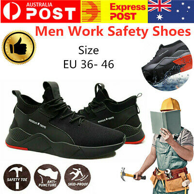 Men Safety Shoes Work Boots Steel Toe Cap Sport Trainers Protective Footwear New