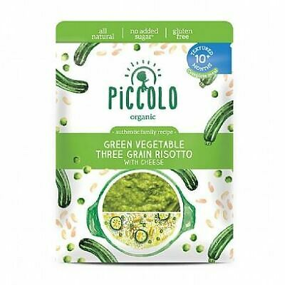 Piccolo Organic Green Vegetable 3 Grain Risotto Stage 3 180g (Pack of 8)