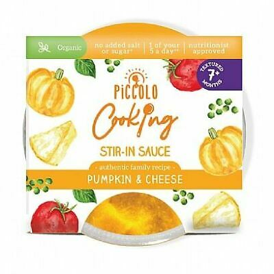 Piccolo Cooking Pumpkin & Cheese Stir-In Sauce 80g (Pack of 12)
