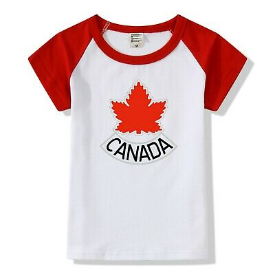 Baby T-Shirt in Canada Maple Leaf for Babys in Height from 90 to 140 cm in Red