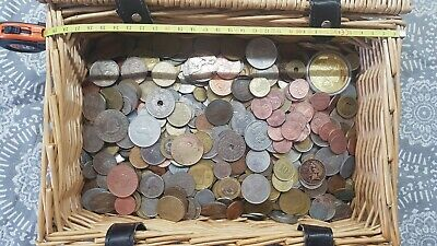 Huge Unsearched Lot of World Foreign 805 coins
