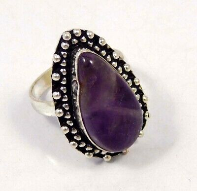 Amethyst Lace .925 Silver Plated Handmade Ring Size-8.75 Jewelry JC4404