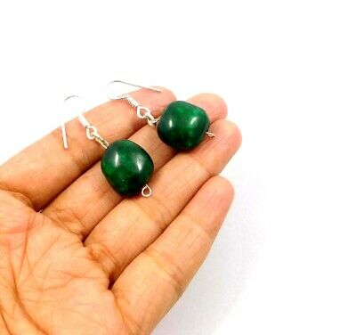 Dyed Emerald .925 Silver Plated Handmade Designer Earring Jewelry JC10016