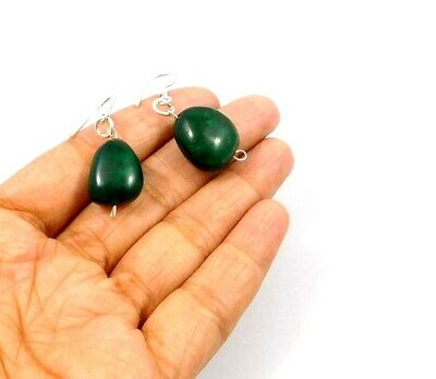 Dyed Emerald .925 Silver Plated Handmade Designer Earring Jewelry JC10013