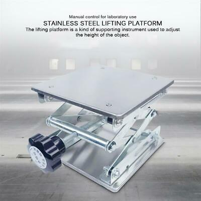 """8"""" Stainless Steel Lab Stand Table Scissor Lift Platform Manual Lift Rack Table"""