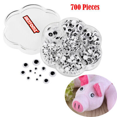700x Wiggly Wobbly Googly Eyes Self-adhesive Scrapbooking Crafts Toy
