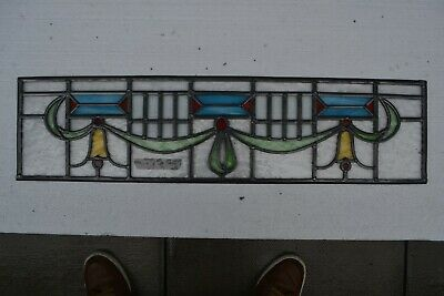 C01. Traditional leaded light stained glass window door panel made new your size