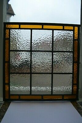 C07. Traditional leaded light stained glass window door panel made new your size