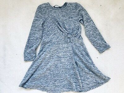 Girls Grey Front Knot Knitted Dress Age 7-8 Years From Primark