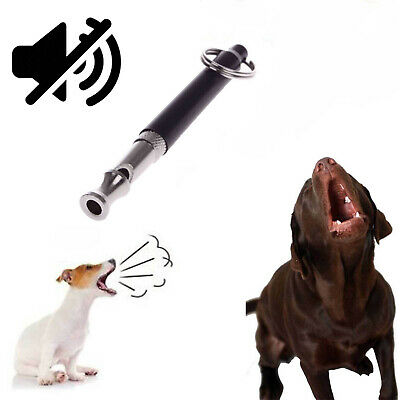 80MM Dog Puppy Pet Training Whistle Silent Ultrasonic Adjustable Sound Keychain