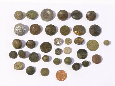 35 x Antique Buttons A/F Metal Detector Find Ex Martins RESEARCH Lot #CM173