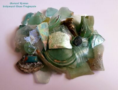 ⚱ 50 Ancient Roman • Iridescent Patina Glass Fragments • Israel • Holy Land #3 ⚱