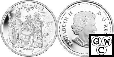 2013 Special Ed '250th Anniv Seven Years War' Proof Silver $1 .9999Fine(13198)NT