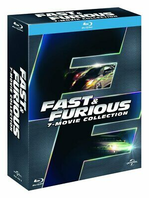 Coffret blu-ray Fast and Furious (7 films), neuf, sous blister + croix Toretto