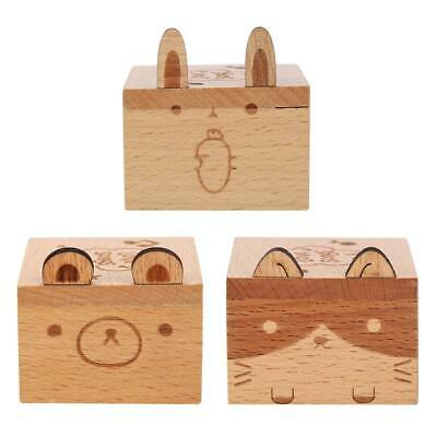 Cartoon Animal Exquisite Wooden Hand Cranked Music Box Home Crafts Gifts #Cu3