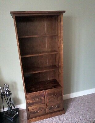Next Mahogany Tall Unit With 4 Drawers