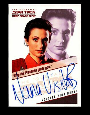 Star Trek Quotable Deep Space Nine DS9 Nana Visitor / Kira Nerys Autograph Card