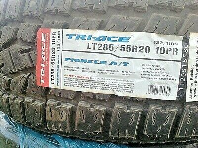 1 New TRI-ACE PIONEER AT LT285/55R20 122/119S 10PR RATED 180 MPH  BRAND NEW