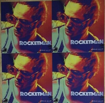 Lot Of 4 Rocketman Elton John Limited Edition 12 X 12 Poster New Rare Flat