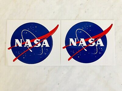 NASA OFFICIAL MEATBALL GENUINE LOGO STICKER DECAL x 2pcs New