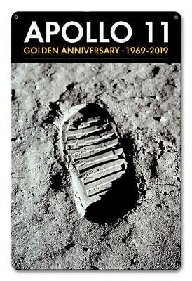 Apollo 11 Vintage Metal Sign Boot Print On Lunar Surface)-New!