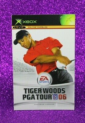 Instruction Booklet/Manual Only For Tiger Woods Pga Tour 06 Xbox (No Game) 👑