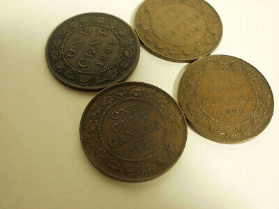 Canada Large Cent Lot of 4 1903 1912 1918 1920