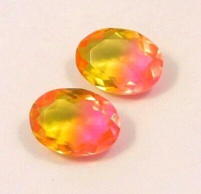 AAA Treated Faceted Tourmaline pair Loose Gemstones 20 ct 17x11 MM RM13538