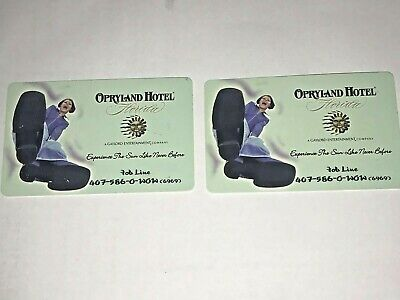 Opryland Hotel Florida Phone Cards Lot of 2 Expired Unused Rare Never Existed