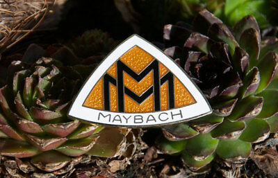 Schöner Alter Emaille Pin / Button # Maybach Zeppelin Mercedes Deutschland