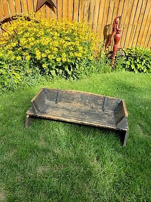 Vintage Wood Buckboard Carriage Buggy Wagon Bench Seat Great for a project