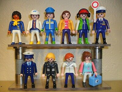 PLAYMOBIL AIRPORT FIGURES (Pilot,air hostess,ground crew for aeroplanes)