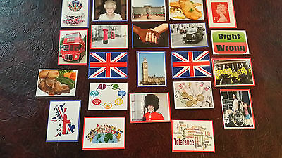 23 British Values Flash Cards- Ofsted- Discussion Display Class Childminder