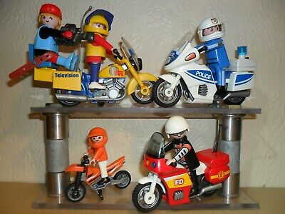 PLAYMOBIL MOTORBIKES JOB LOT (police bike with light,motorcycles,Bundle)